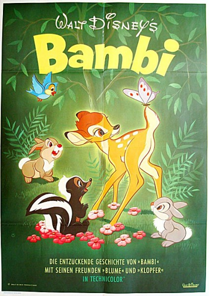 Bambi movie poster shop